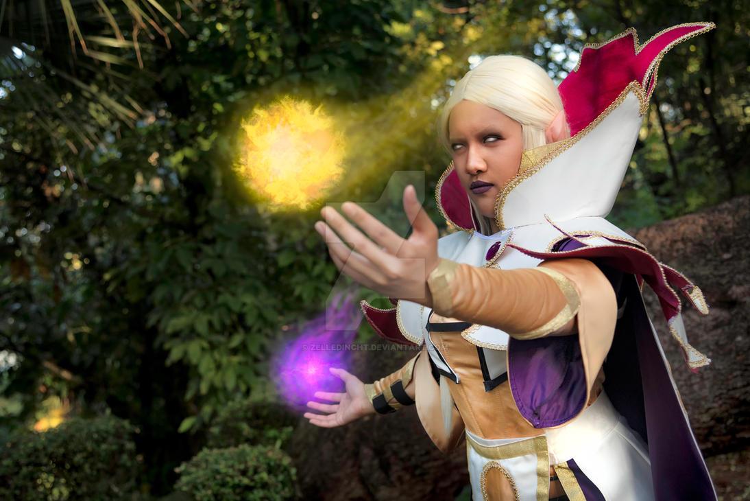 female invoker dota 2 cosplay by zelledincht on deviantart