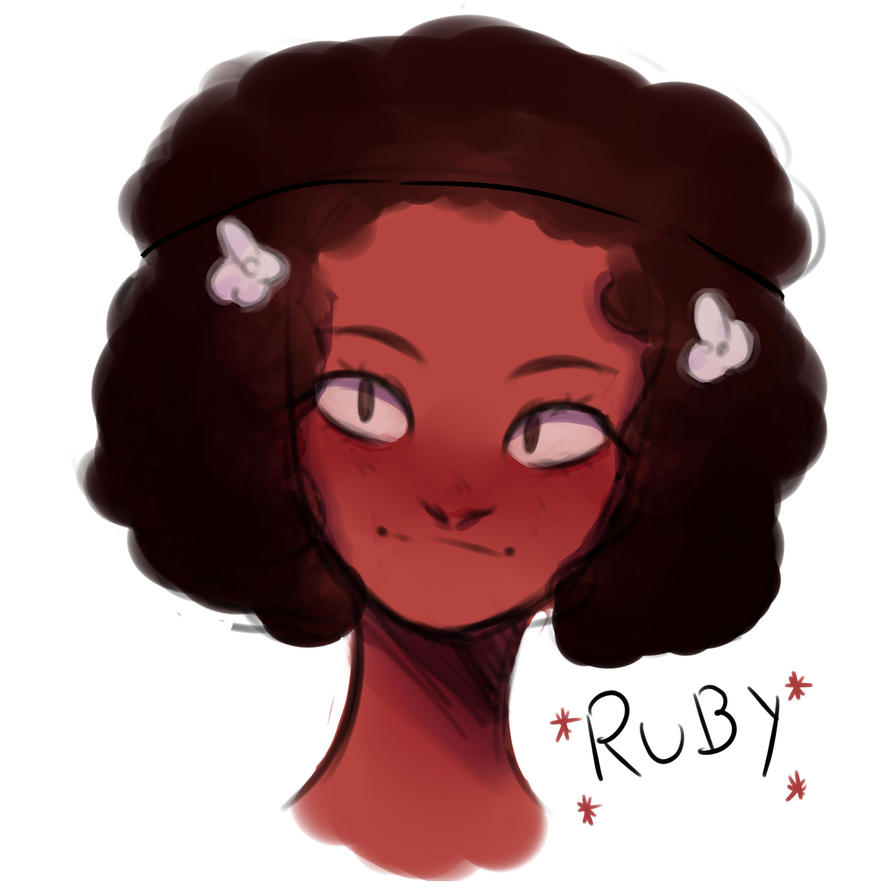 A quick drawing of Ruby from Steven Universe.