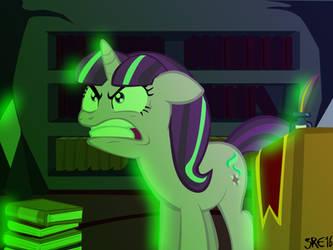 Starlight Glimmer - Huevember Hue#8 Angry Green by moonstrueck
