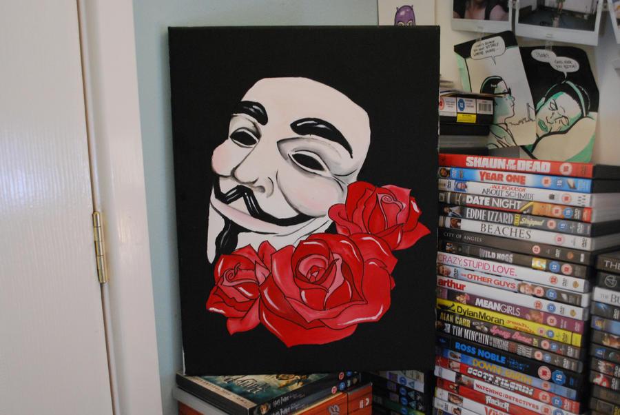 V For Vendetta Painting v for vendetta by calliemay