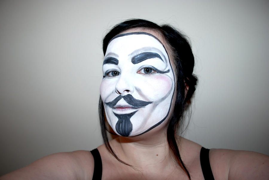 v for vendetta face painting by calliemay on DeviantArt