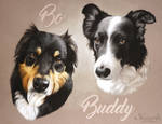 BO and BUDDY by skyzune ART