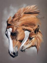 ITALIA and ELLA by SKYZUNE ART by SKYZUNE-ART