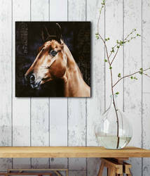 Horse painting AMBER SILK by Skyzune ART