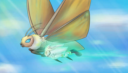 Mothra and Silver by SonicMiku