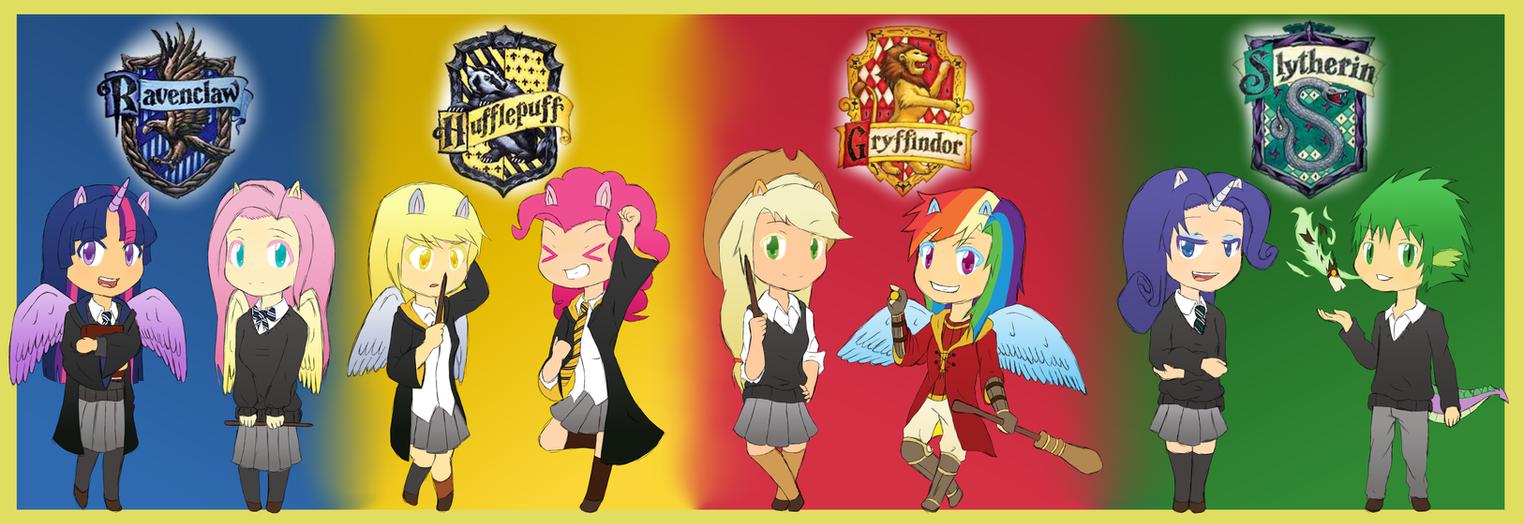 Anime Characters Hogwarts Houses : Mlp in hogwarts by ryuusei on deviantart
