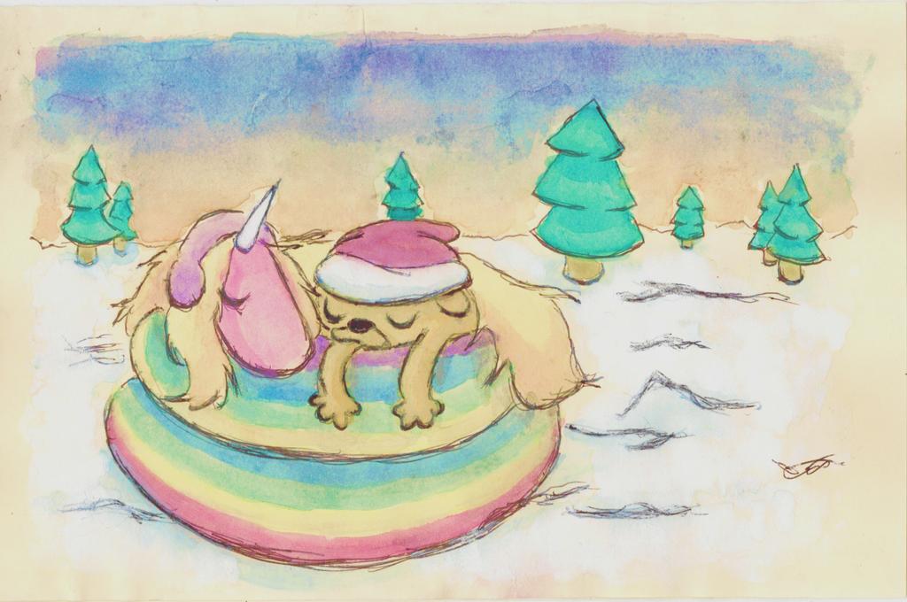 Christmas Card 1: Jake And Lady Rainicorn by Ryuusei924 on DeviantArt