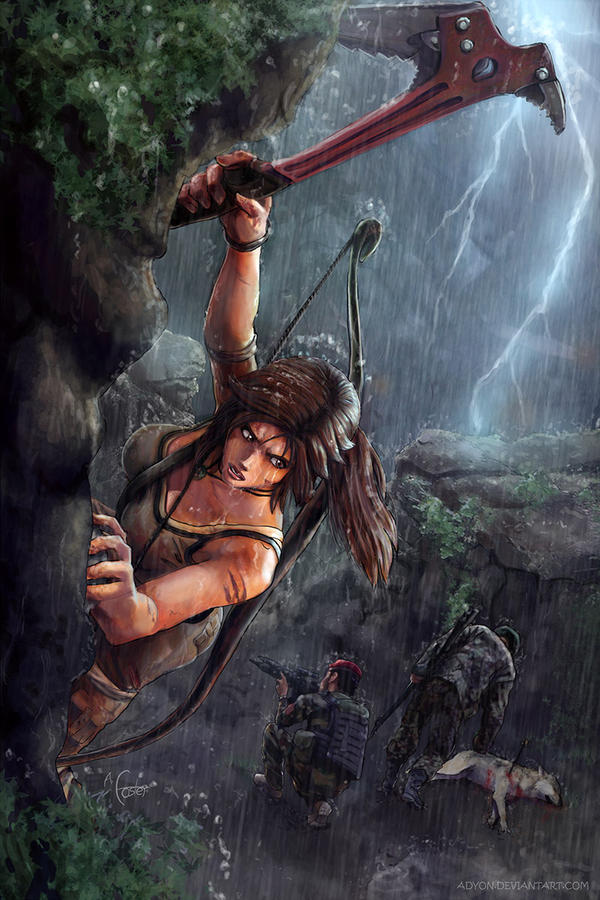 Tomb Raider - Dangerous Situation by Adyon