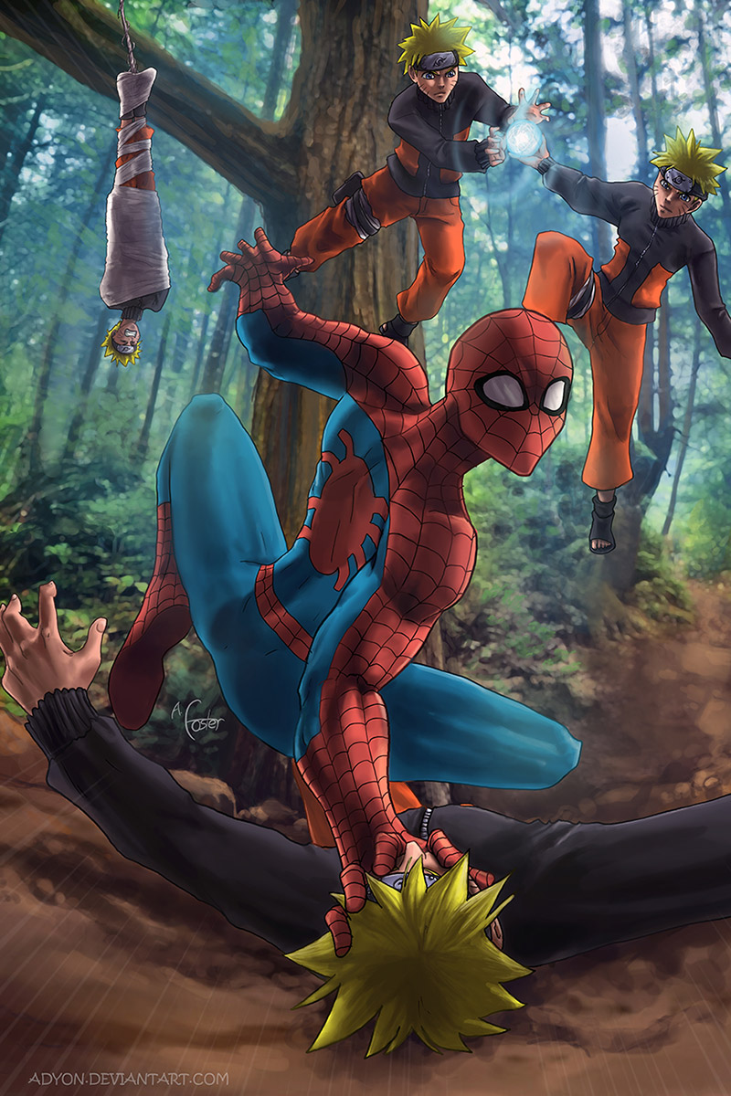 Yikes! Spiderman vs. Naruto...I guess I would have my hands full...