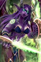 Female Illidan - Demon Hunter - Warcraft by Adyon