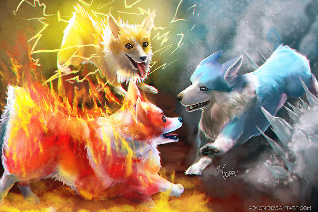 Legendary Corgis by Adyon