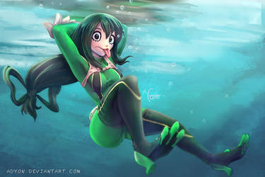 Froppy Underwater by Adyon