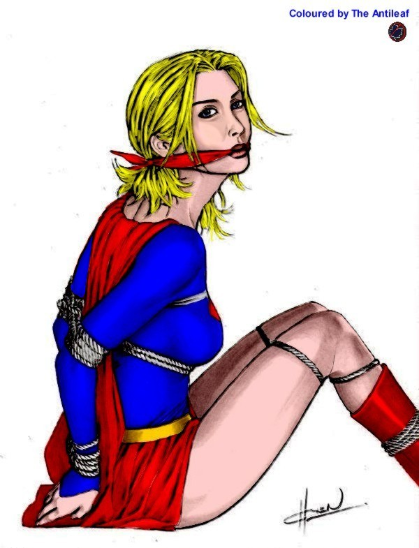 Supergirl tied and gagged by Antileaf-Artworks