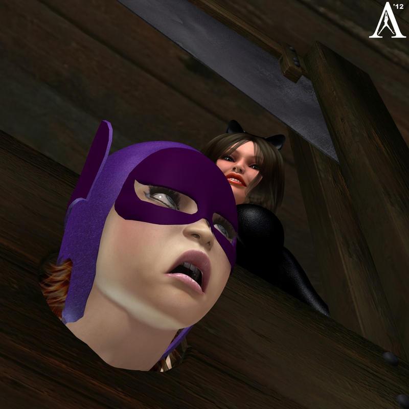 Batgirl vs Catwoman by Antileaf-Artworks