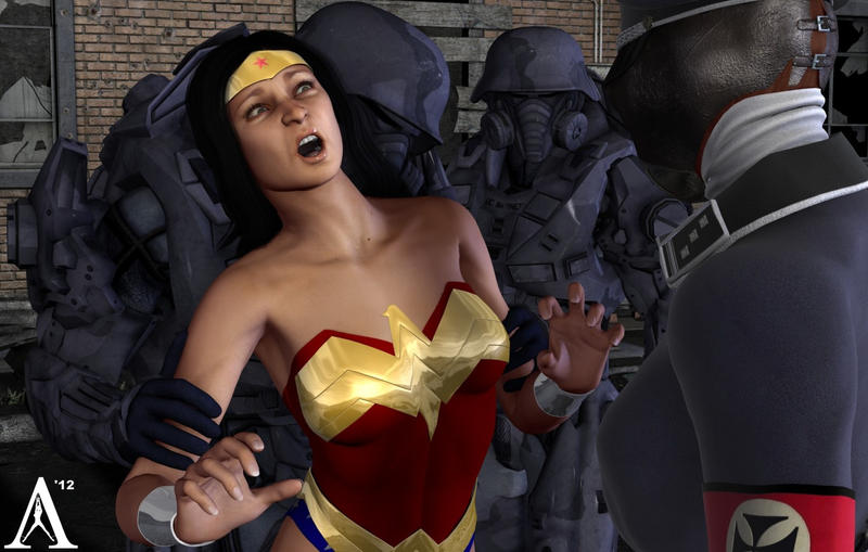 Wonder Woman Captured by the Nazi's and Interrogated