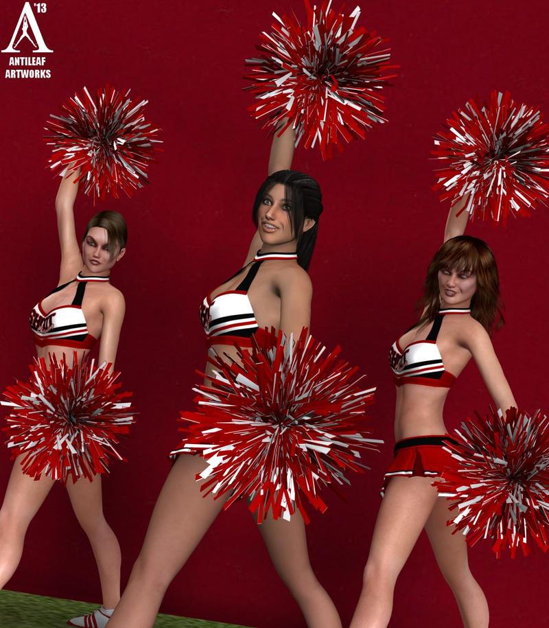 Cheerleaders by Antileaf-Artworks