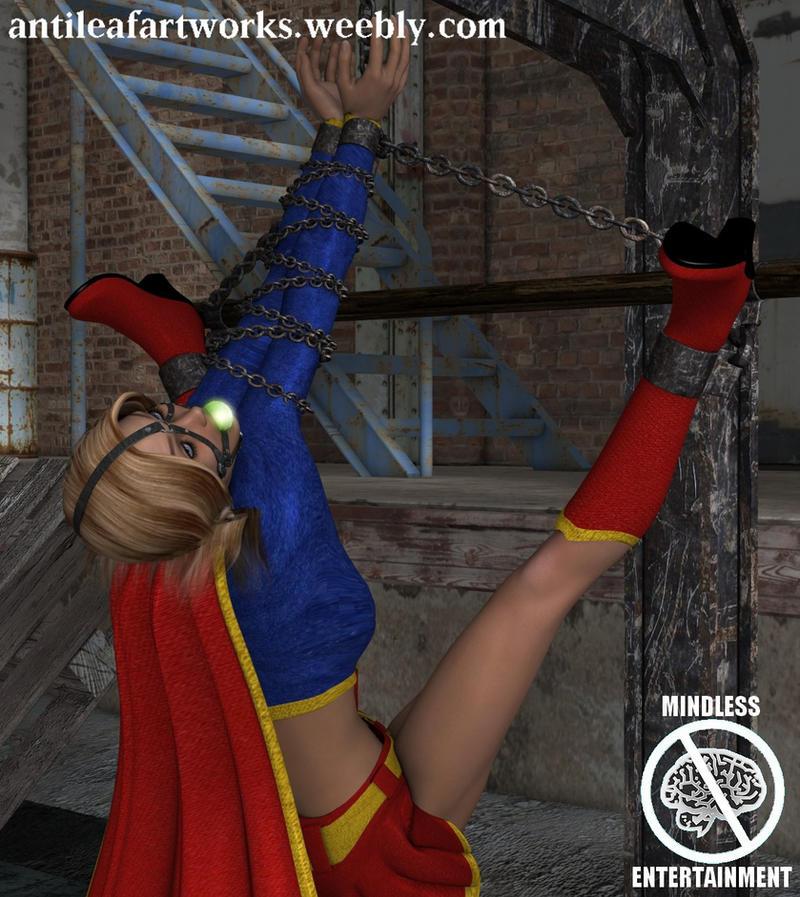Supergirl Suspended by Antileaf-Artworks
