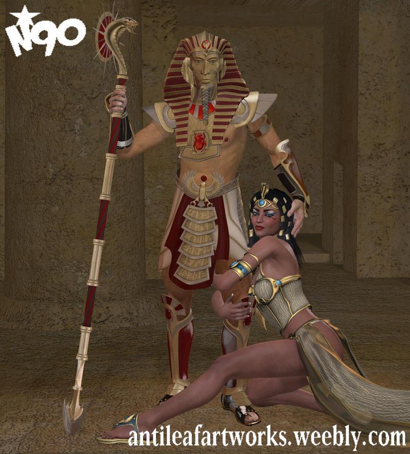 Egyptian Romance by Antileaf-Artworks