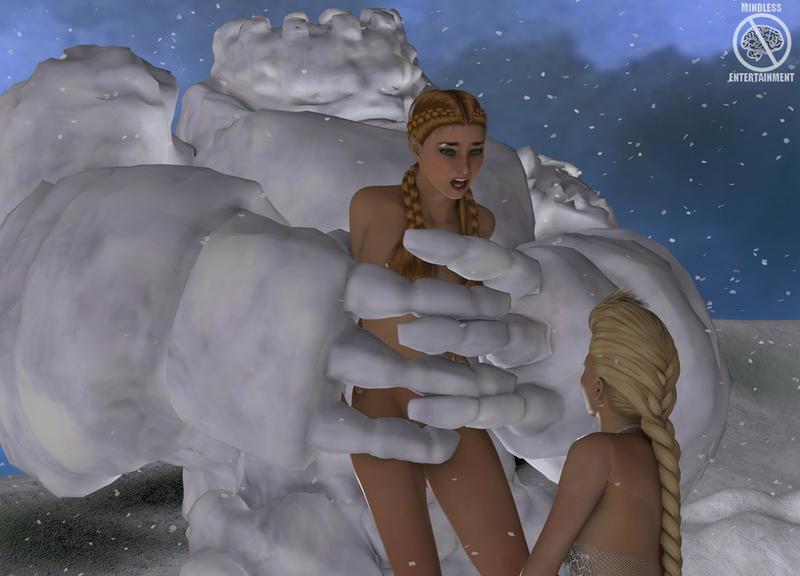 Wanna build a snowman by Antileaf-Artworks