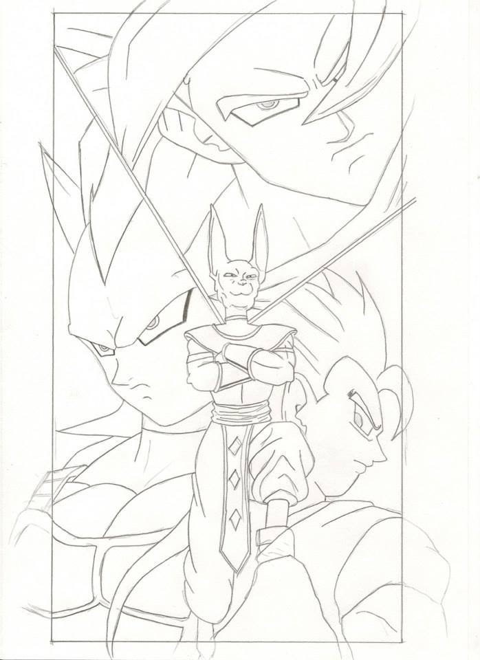 Dragon Ball Z Battle Of Gods Drawings Z Battle Of Gods Coloring Pages