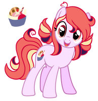 ADOPT 3USD-Ice cream Pony|Selling Old Ocs [CLOSE] by Posey-11