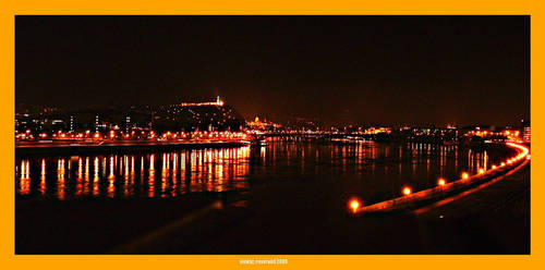 Danube night view by hungarians