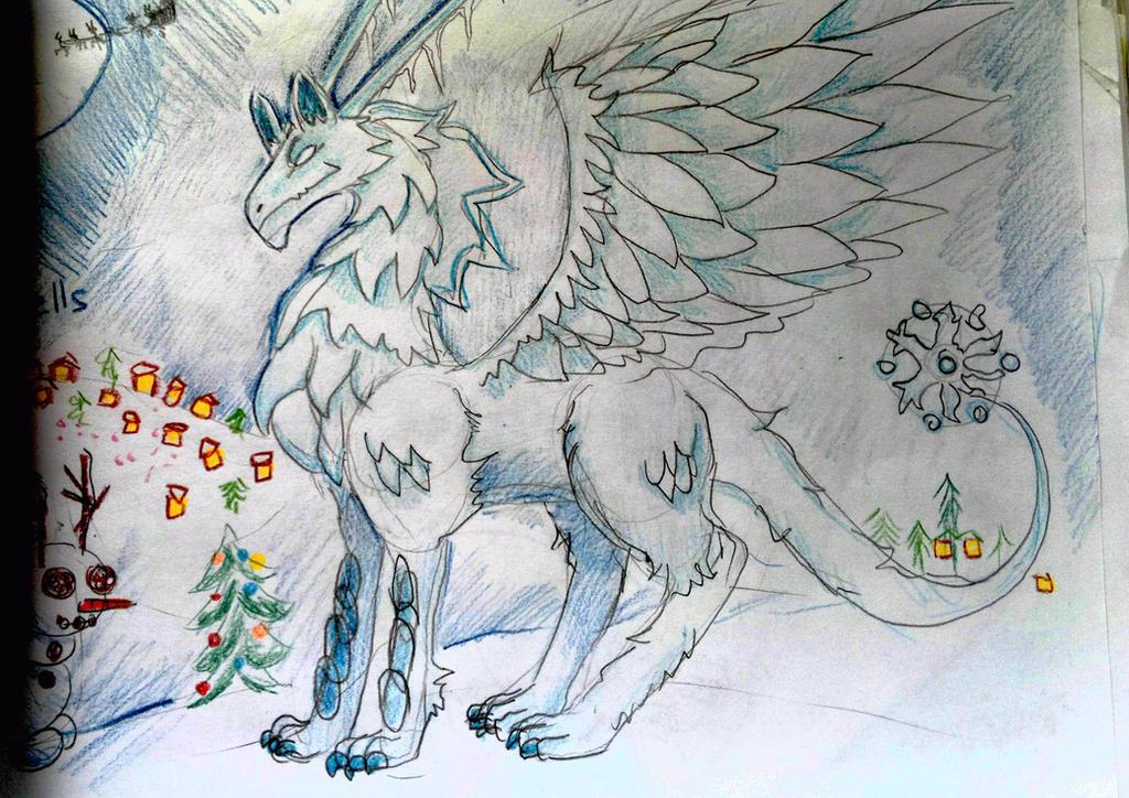 snow dragon. by Shantifiy