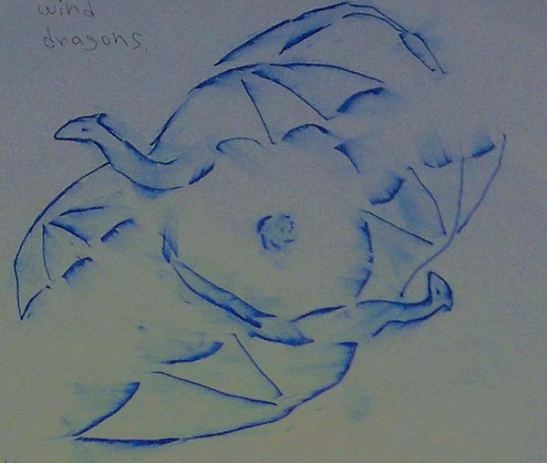 wind dragons dance. by Shantifiy