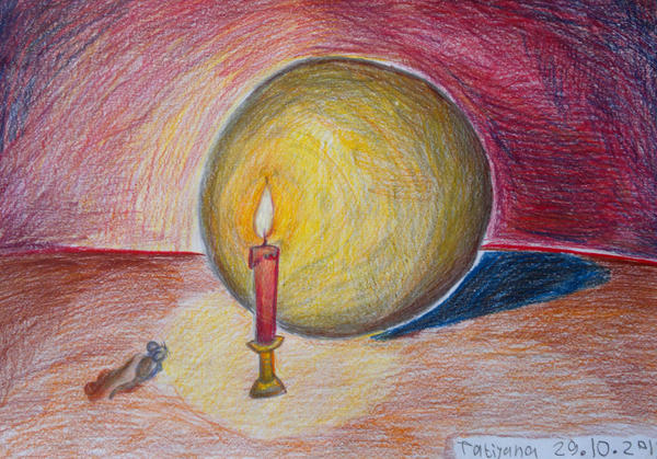 just ball and candle. by Shantifiy