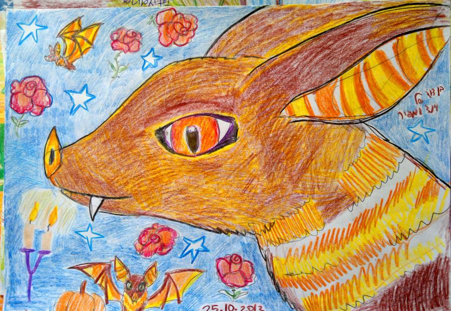 Autumn vampire bat. by Shantifiy