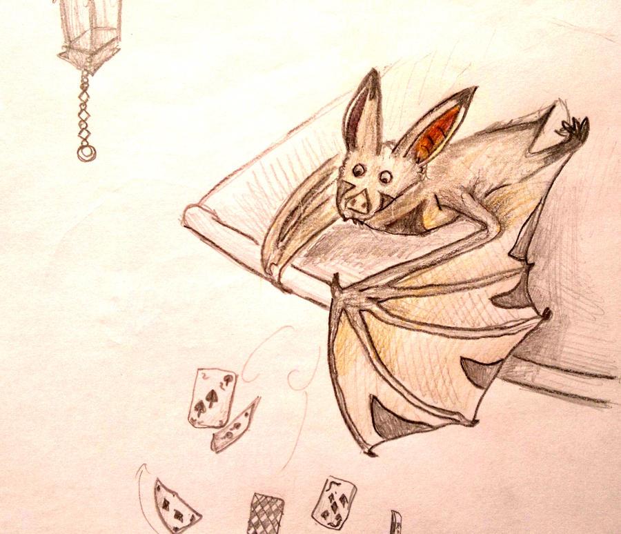 Bat - My cards fall down. by Shantifiy