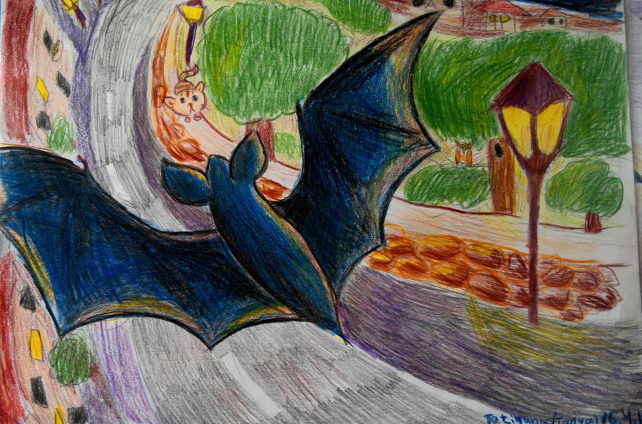 Bat -blue by Shantifiy