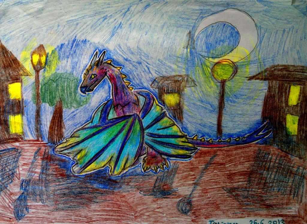 Dragon- Wyvern. by Shantifiy