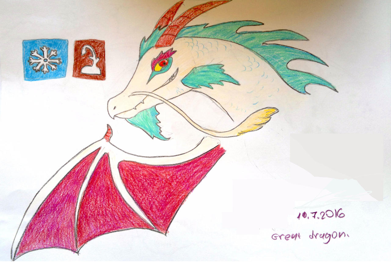 Great White Dragon - Dragon City. by Shantifiy