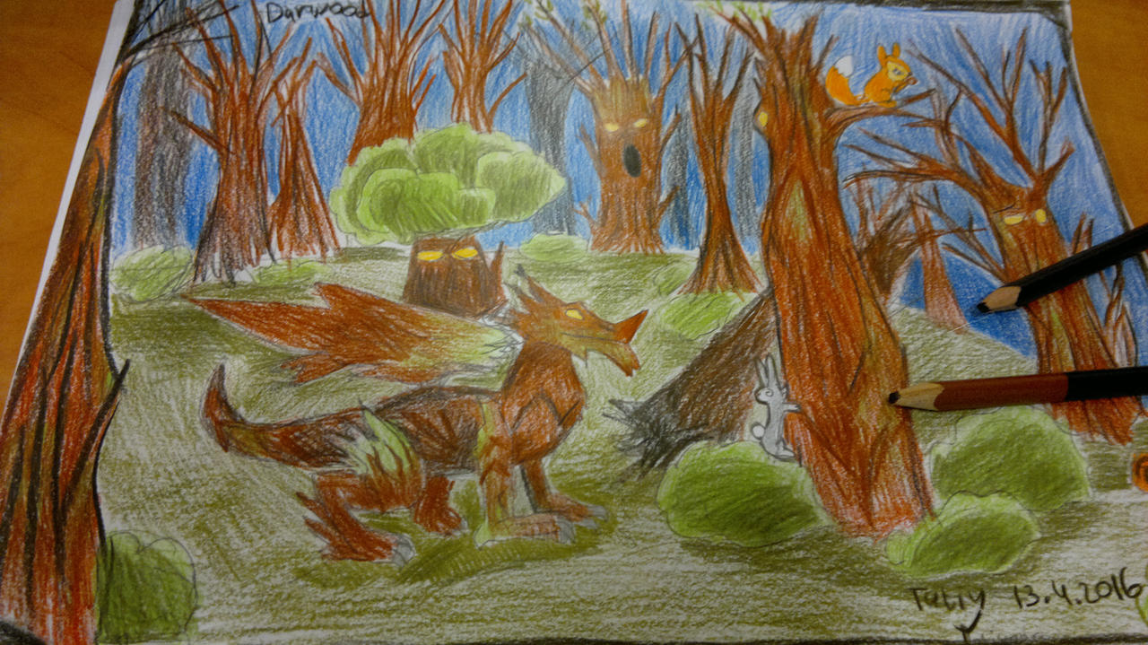 Red woods dragon- Dragon city by Shantifiy