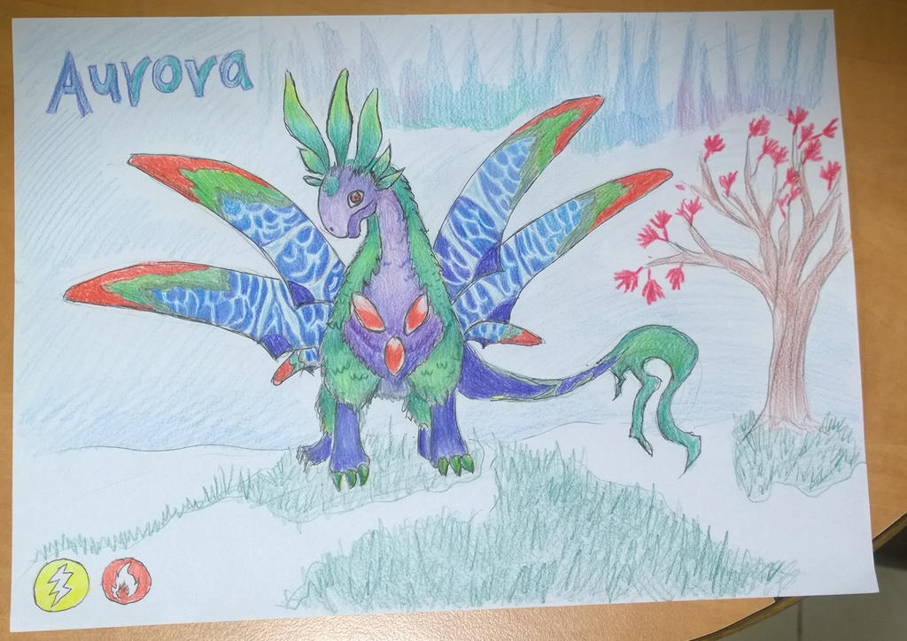 Aurora dragon. by Shantifiy