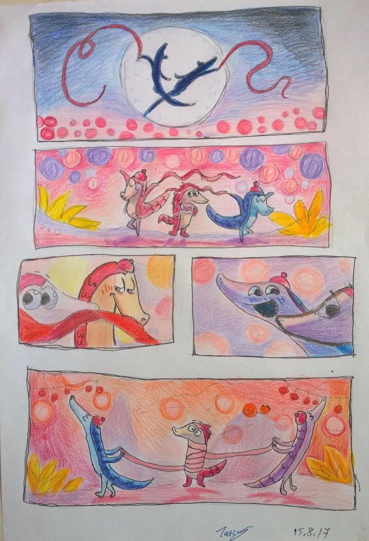 pangolin love day - part 6 by Shantifiy