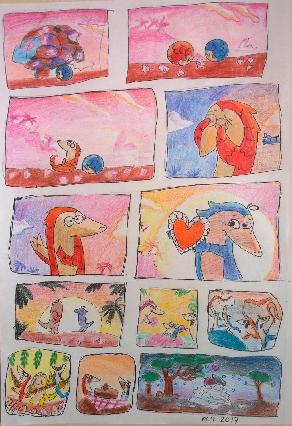 pangolin love day - the end. by Shantifiy