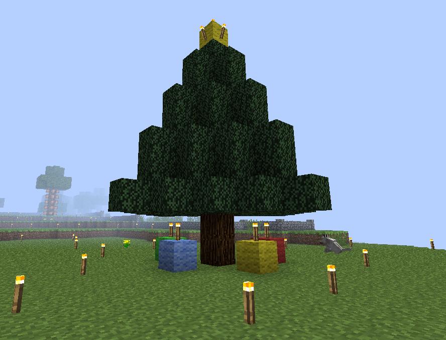 Minecraft Christmas Tree By Zeldaskitten On Deviantart