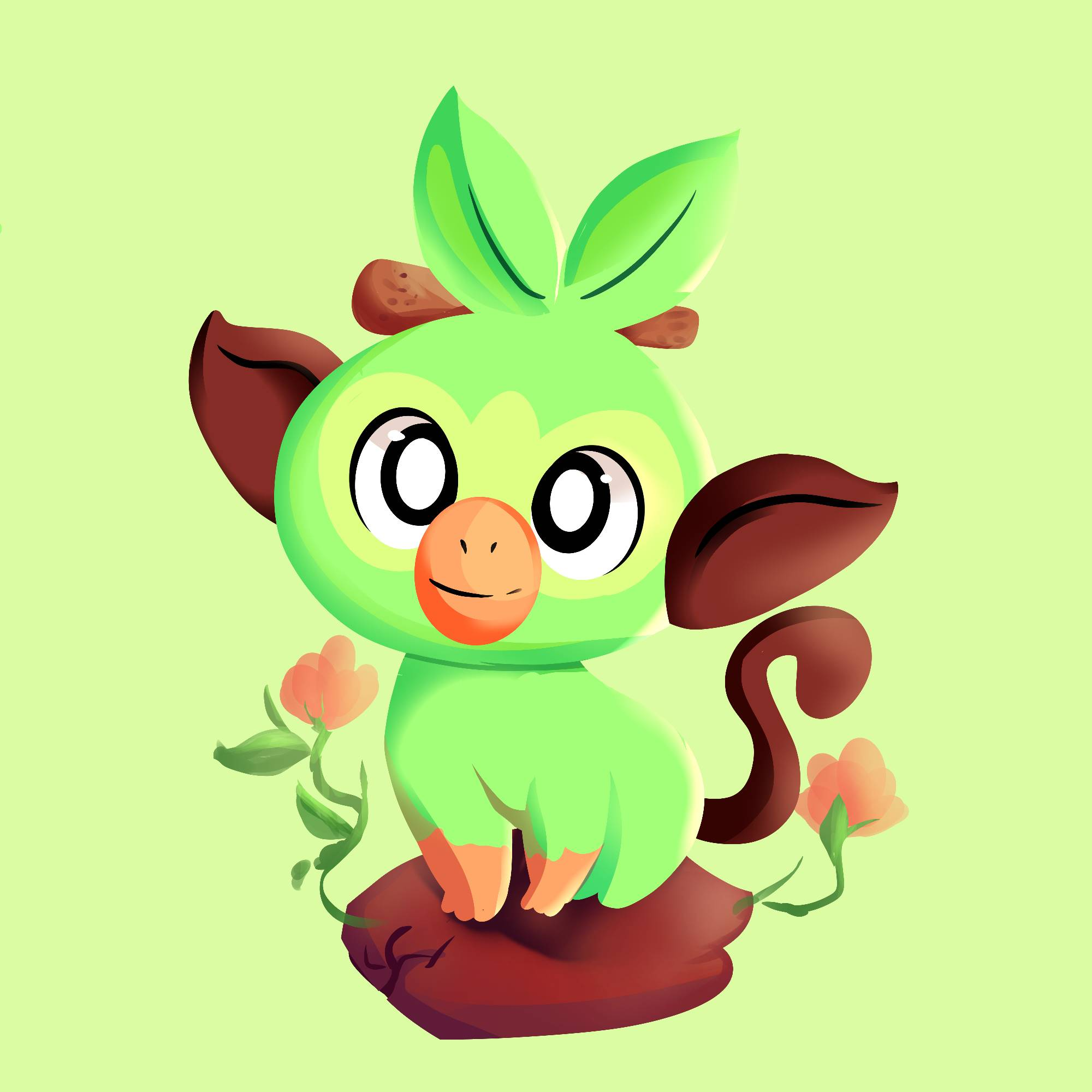 Grookey Pokemon Sword And Shield By Safille On Deviantart If heads, the defending pokémon is now paralyzed. grookey pokemon sword and shield by
