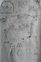 Ink Sketchdump by midnightheist