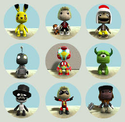 My LittleBIGPlanet customs by midnightheist