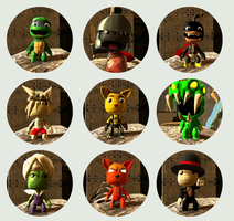 LittleBigPlanet customs v.2 by midnightheist