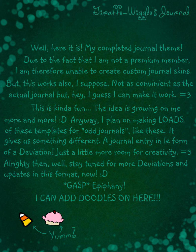 deviantart how to make your own journal skin