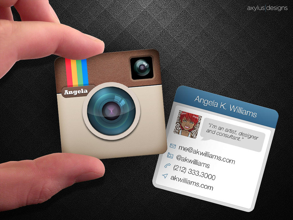 Mini Instagram Business Card by axylus on DeviantArt