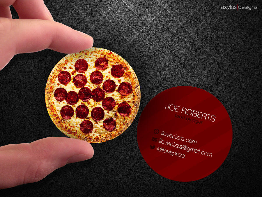 Circular Pizza Business Card by axylus on DeviantArt