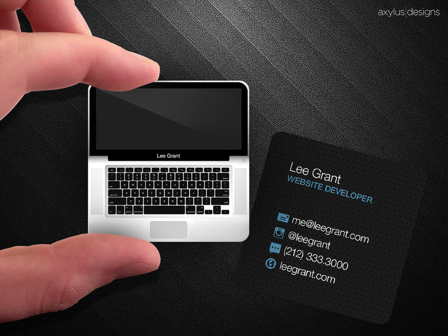 Square Macbook Business Card by axylus on DeviantArt