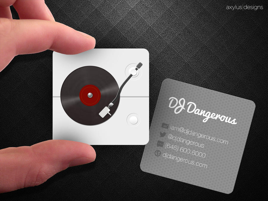 Square Turntable DJ Business Card by axylus on DeviantArt