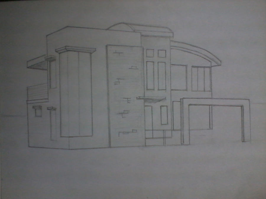Modern House Sketch 2 By Rainier3 On Deviantart
