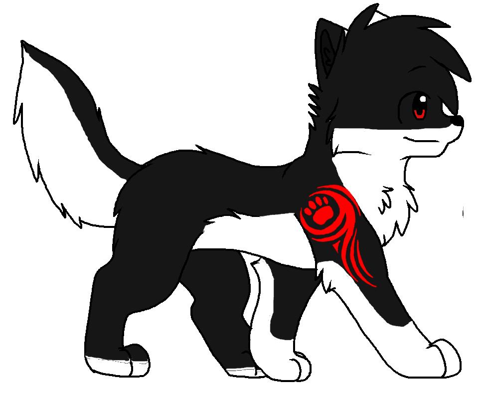wolf's tattoo by Frostypuppywolf